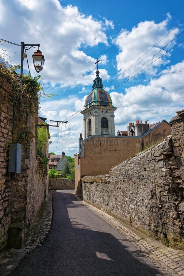 Catedral em Besancon da região de Bourgogne Franche Comte em França fotografia de stock royalty free