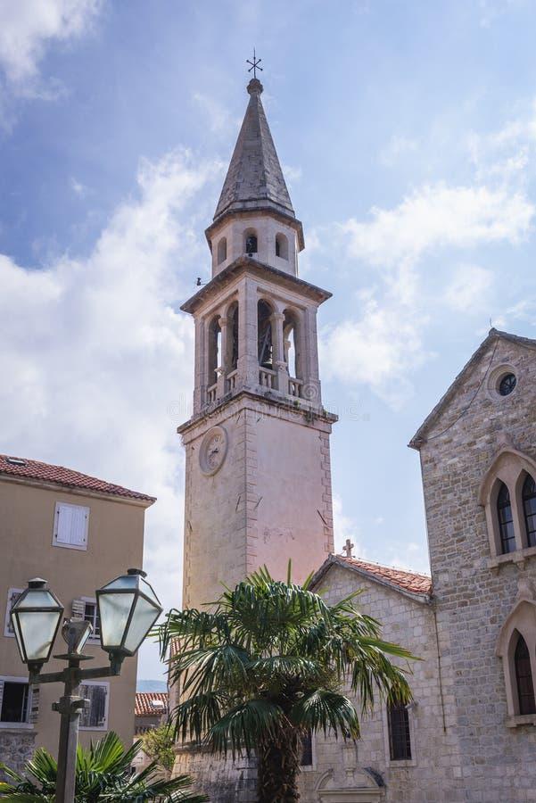 Catedral em Budva imagem de stock royalty free
