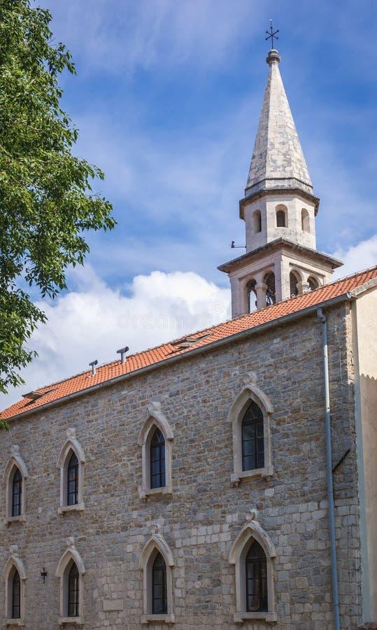 Catedral em Budva imagem de stock
