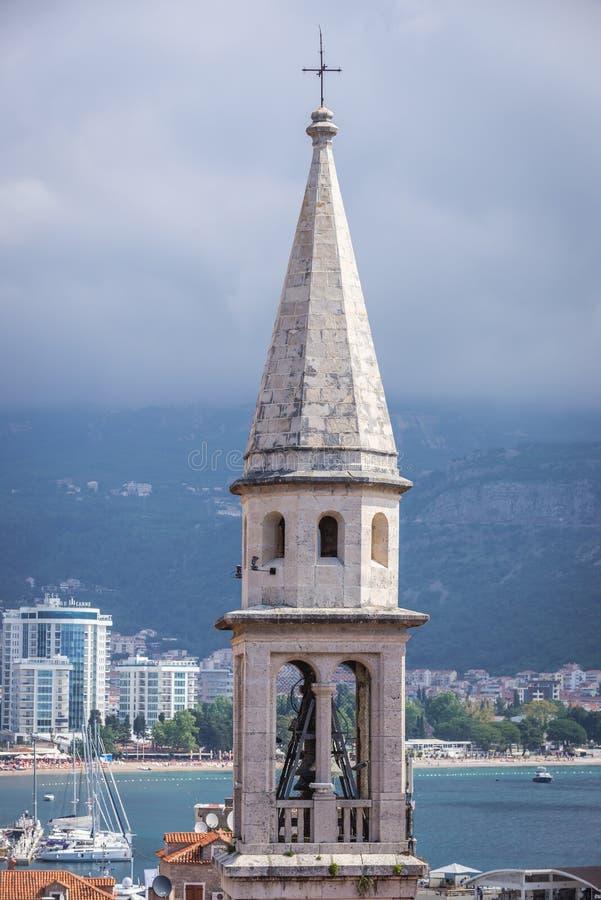 Catedral em Budva foto de stock royalty free