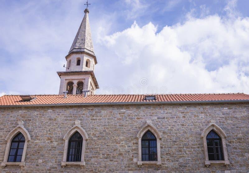 Catedral em Budva fotos de stock