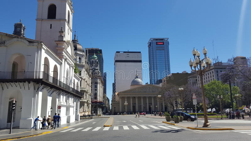 Catedral em Buenos Aires fotos de stock