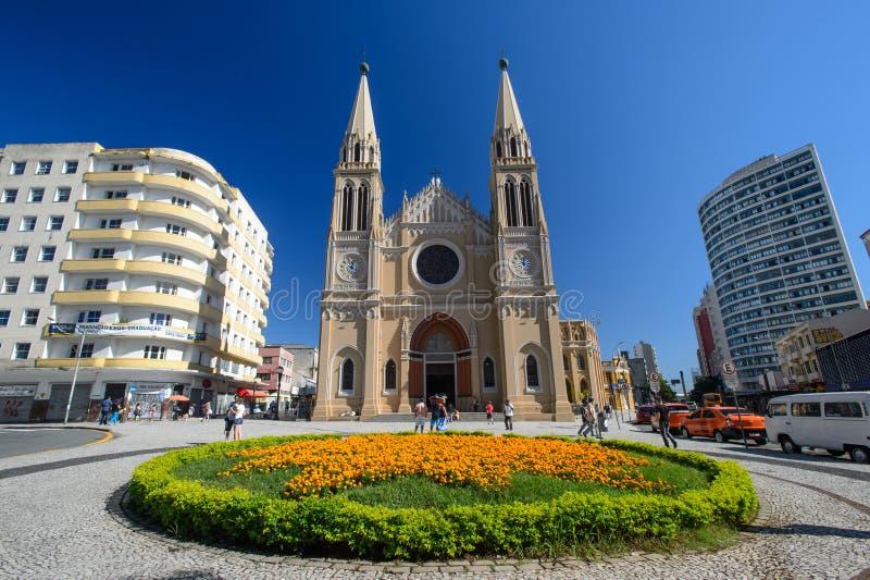 Catedral em Curitiba, Brasil foto de stock