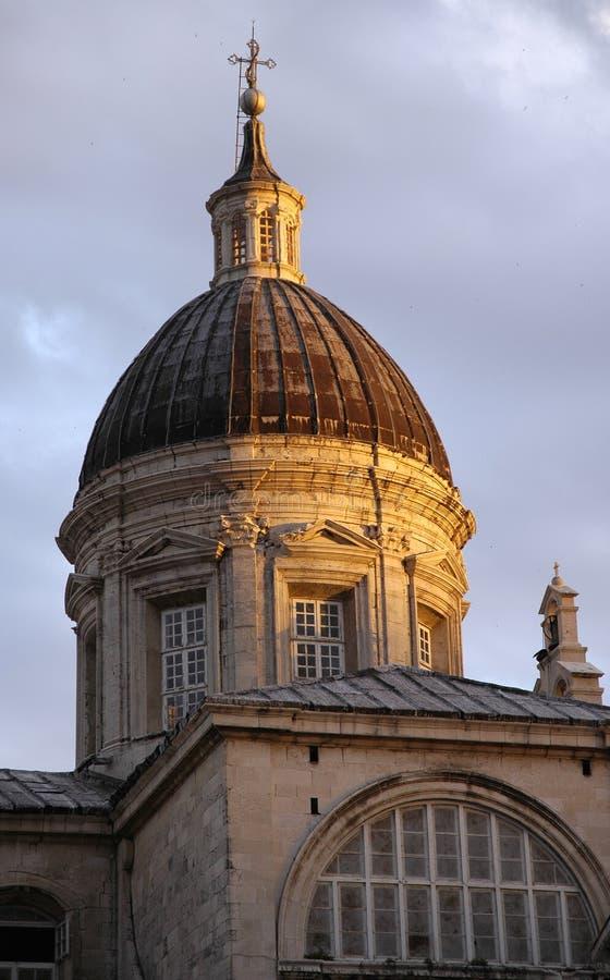 Catedral em Dubrovnik imagem de stock royalty free