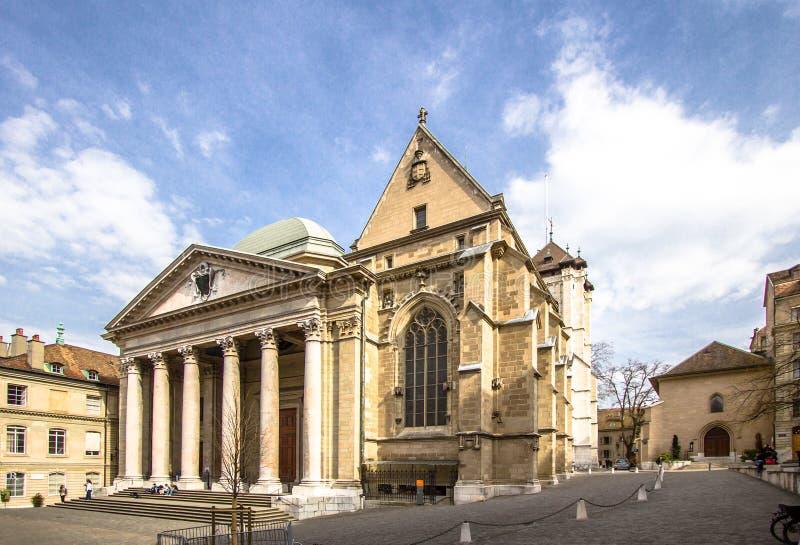 Catedral em Genebra imagens de stock royalty free