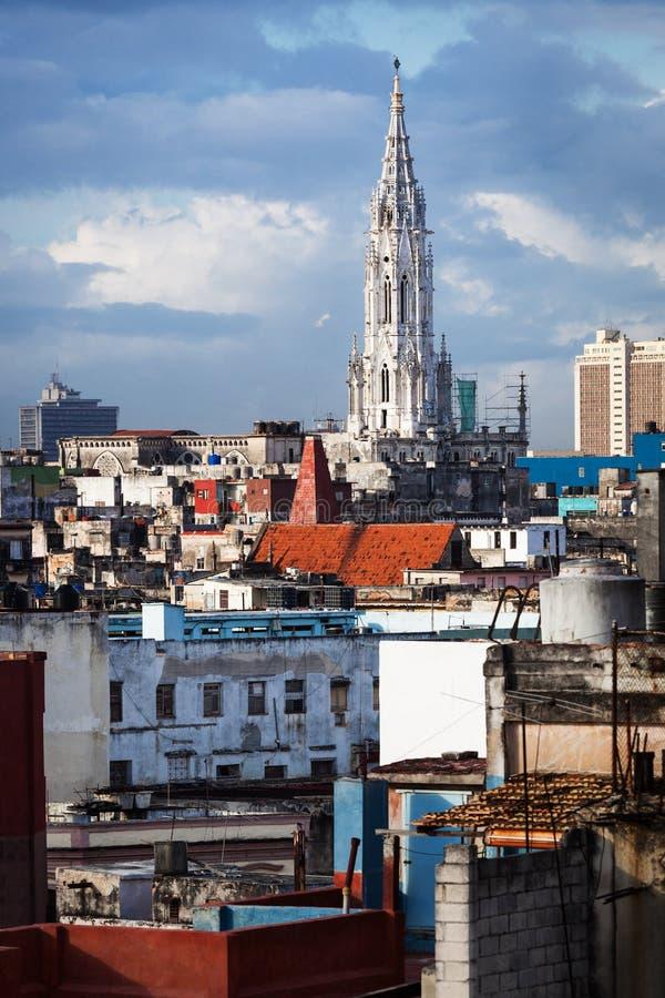 Catedral em Havana velho imagem de stock