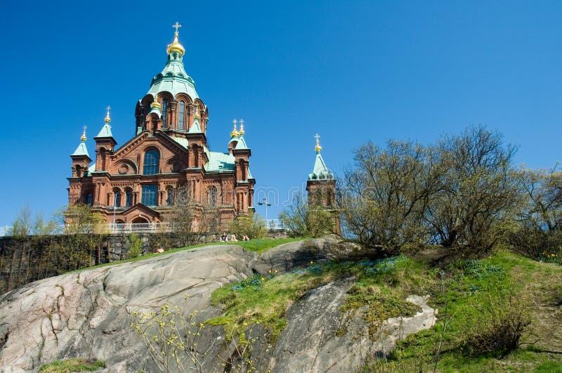 Catedral em Helsínquia imagens de stock