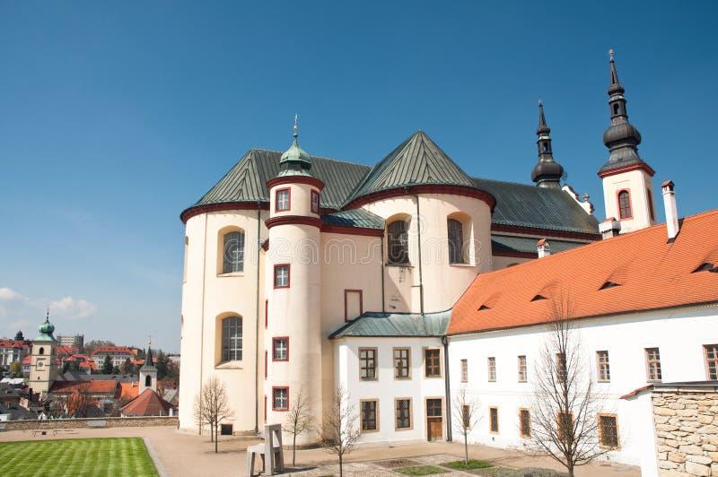 Catedral em Litomysl, república checa imagem de stock