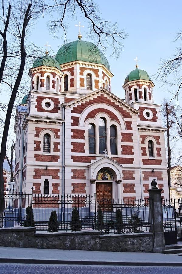 Catedral em Lvov foto de stock