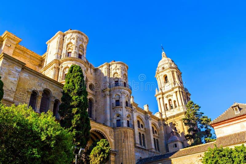 Catedral em Malaga imagens de stock