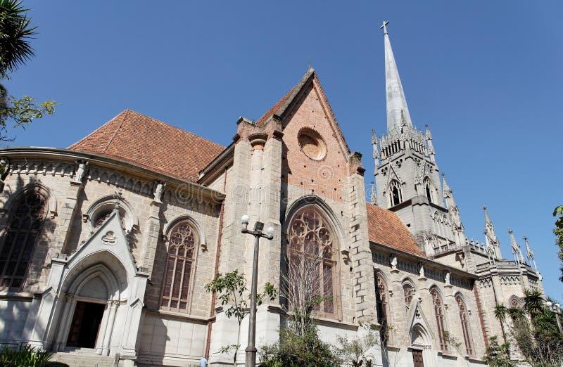 Catedral em Petropolis imagens de stock royalty free