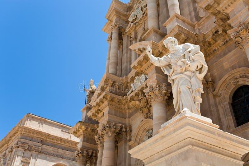 Catedral em Siracusa, Sicília fotos de stock royalty free