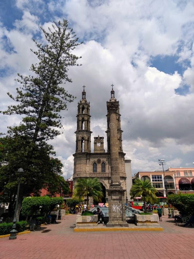 Catedral em Tepic, México imagem de stock