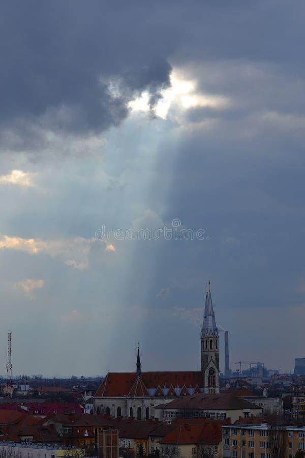 Catedral em Timisoara foto de stock royalty free