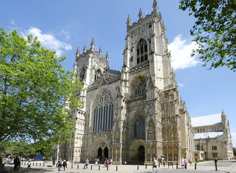 Catedral em York fotografia de stock royalty free