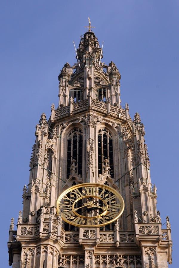 Catedral en Amberes, Bélgica foto de archivo
