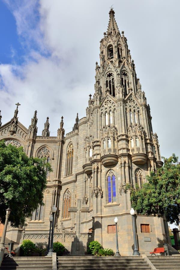 Catedral en Arucas imagenes de archivo
