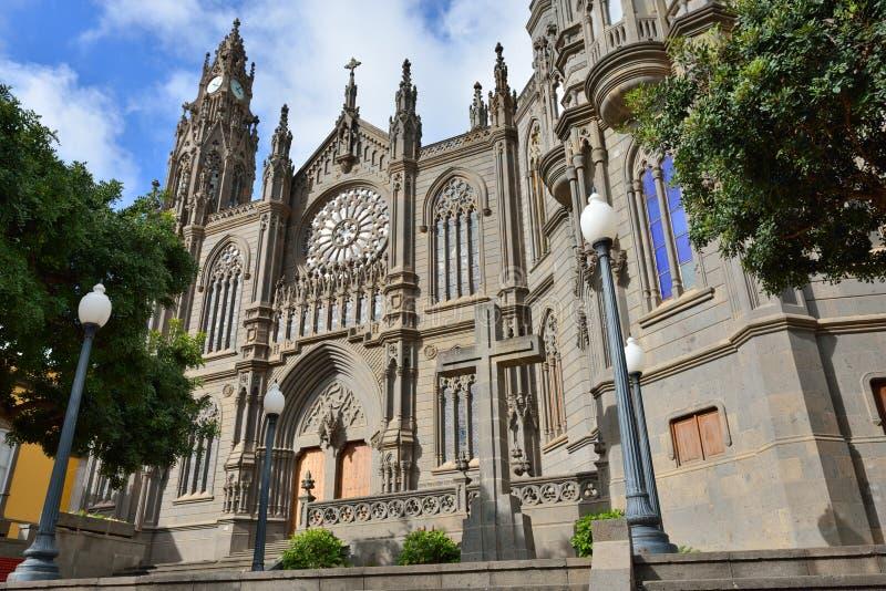 Catedral en Arucas fotografía de archivo libre de regalías
