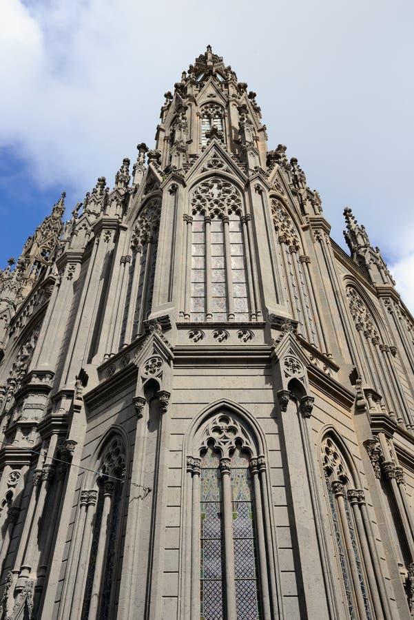 Catedral en Arucas foto de archivo