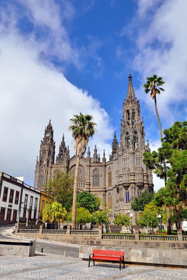 Catedral en Arucas, España foto de archivo libre de regalías