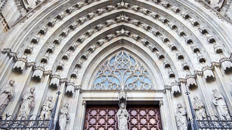 Catedral en Barcelona imágenes de archivo libres de regalías