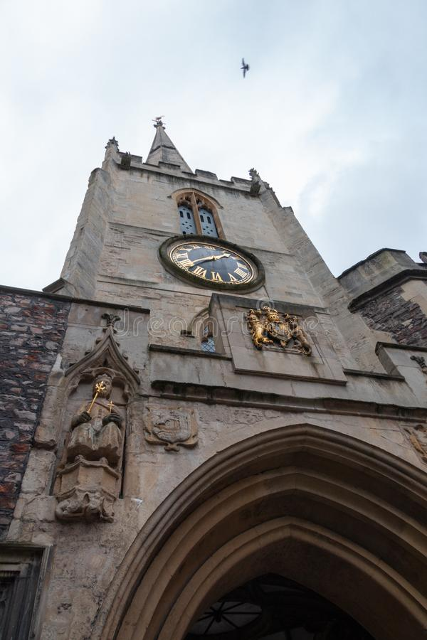 Catedral en Bristol de debajo foto de archivo