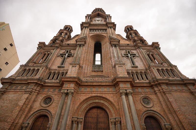Catedral en centro de ciudad de Palmira Colombia fotografía de archivo