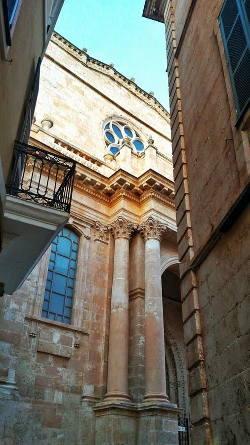 Catedral en Ciudadela arkivfoto