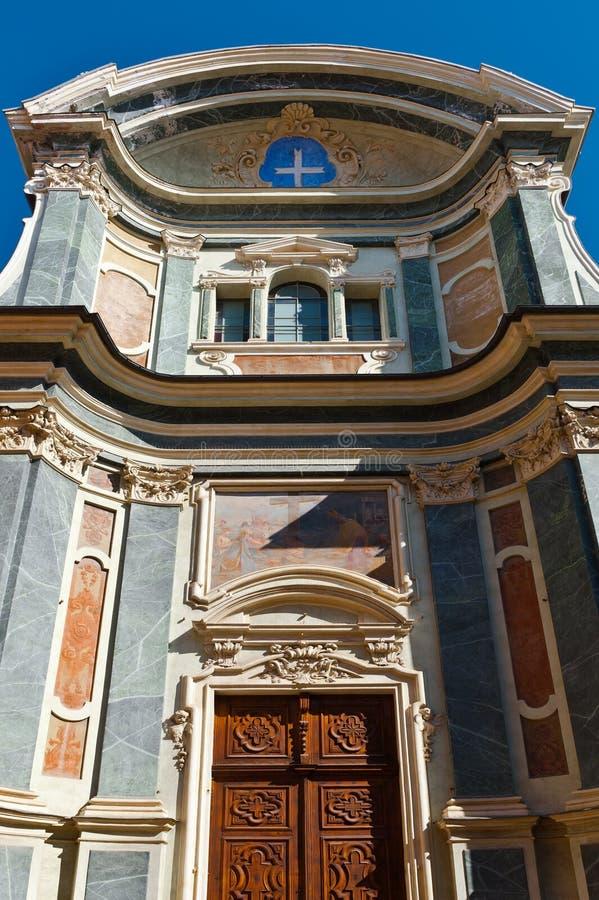 Catedral en Cuneo foto de archivo