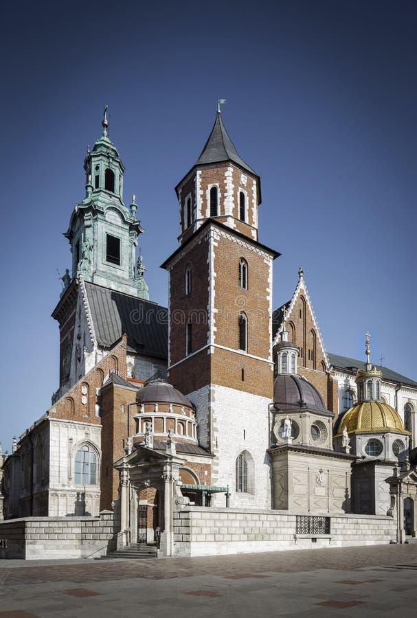 Catedral en el castillo de Wawel imagen de archivo