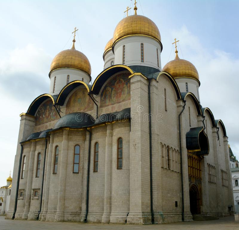 Catedral en el Kremlin, Moscú de la suposición foto de archivo libre de regalías