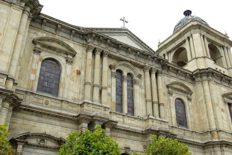 Catedral en el La Paz, Bolivia imagen de archivo