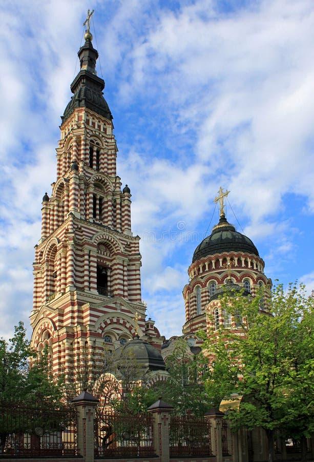 Catedral en Kharkiv imagenes de archivo