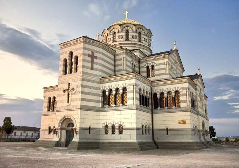 Catedral en Khersones, Crimea del St Vladimir imagen de archivo libre de regalías