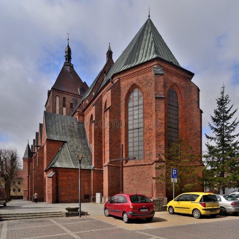 Catedral en Koszalin imagen de archivo
