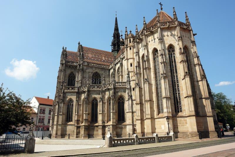 Catedral en la ciudad de Kosice. foto de archivo libre de regalías