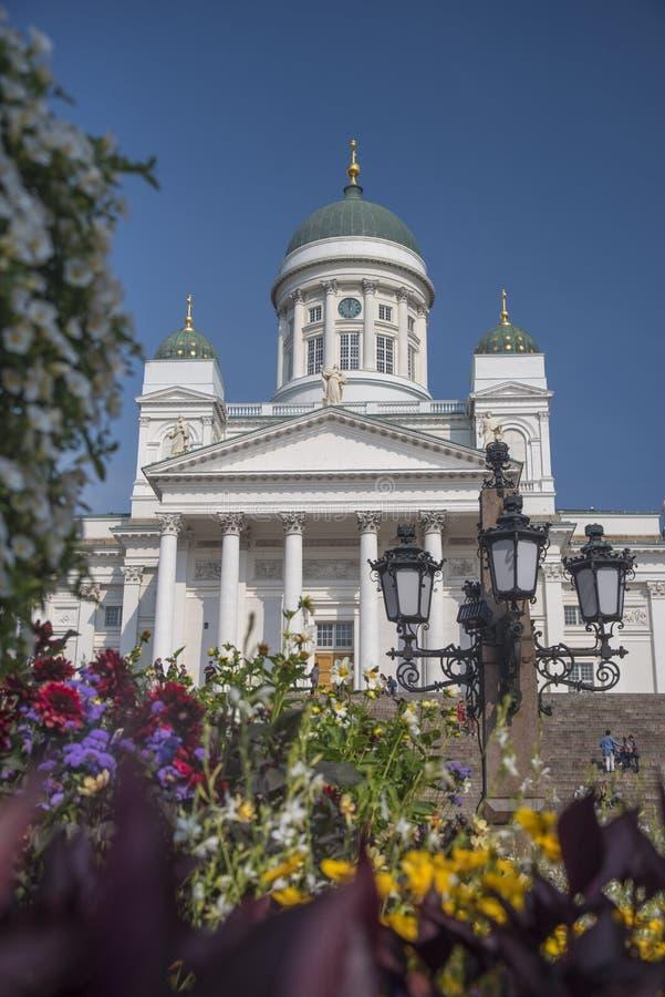 Catedral en la ciudad vieja de Helsinki, Finlandia fotografía de archivo