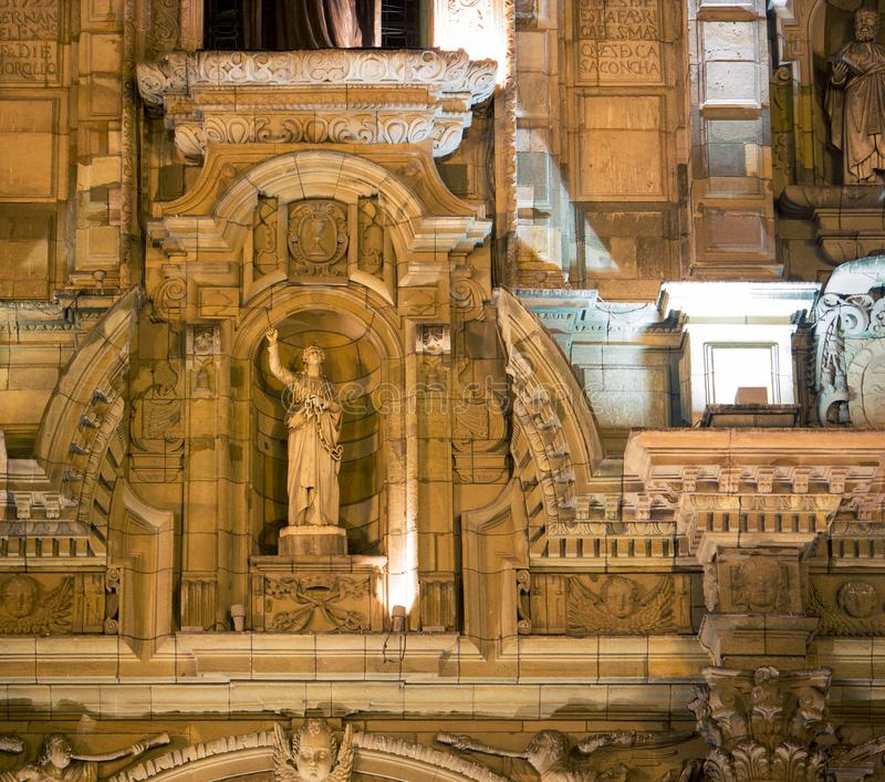 Catedral en la noche Lima imágenes de archivo libres de regalías