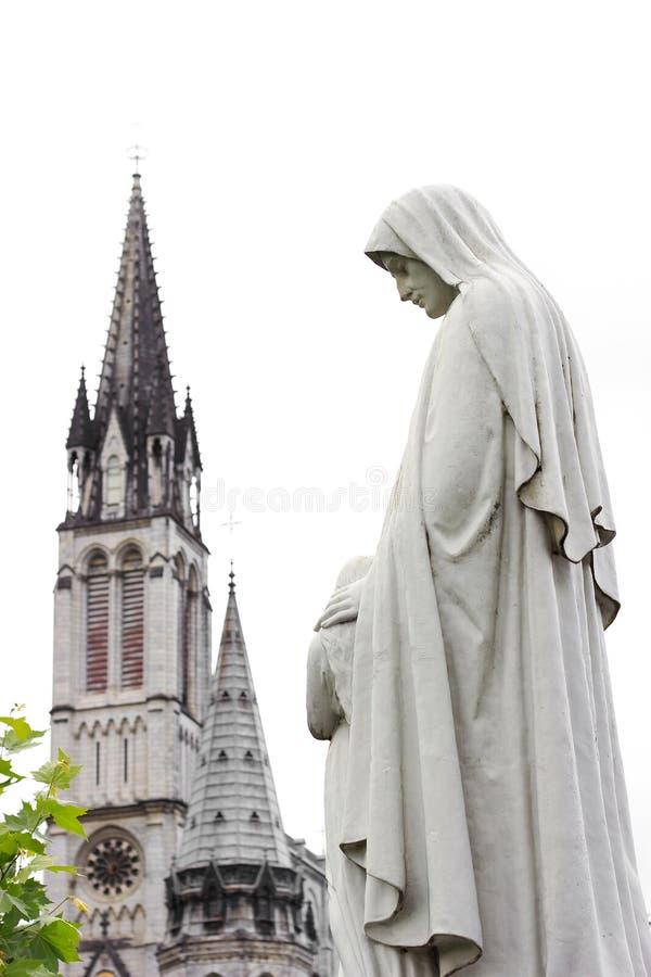 Catedral en Lourdes fotos de archivo libres de regalías