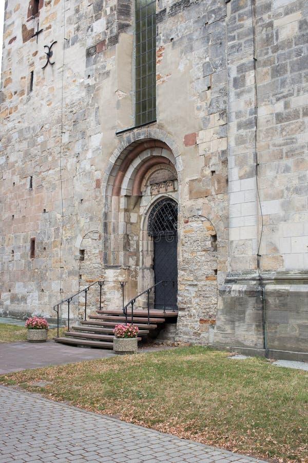 Catedral en Opatow, Polonia. imagenes de archivo