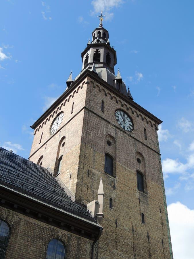 Catedral en Oslo, Noruega foto de archivo libre de regalías