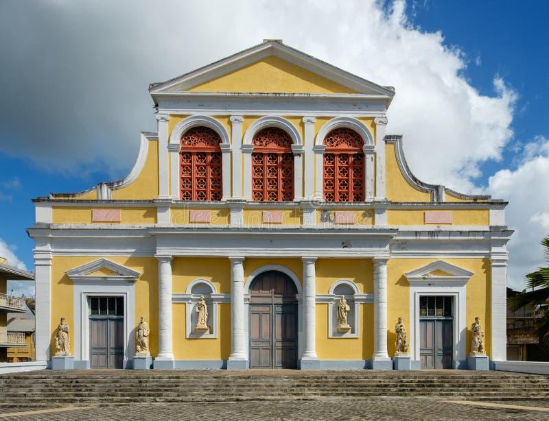 Catedral en Pointe-A-Pitre - Guadalupe imagenes de archivo