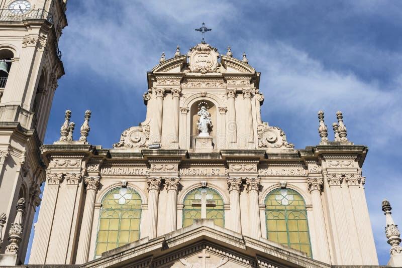 Catedral en San Salvador de Jujuy, la Argentina. fotografía de archivo libre de regalías