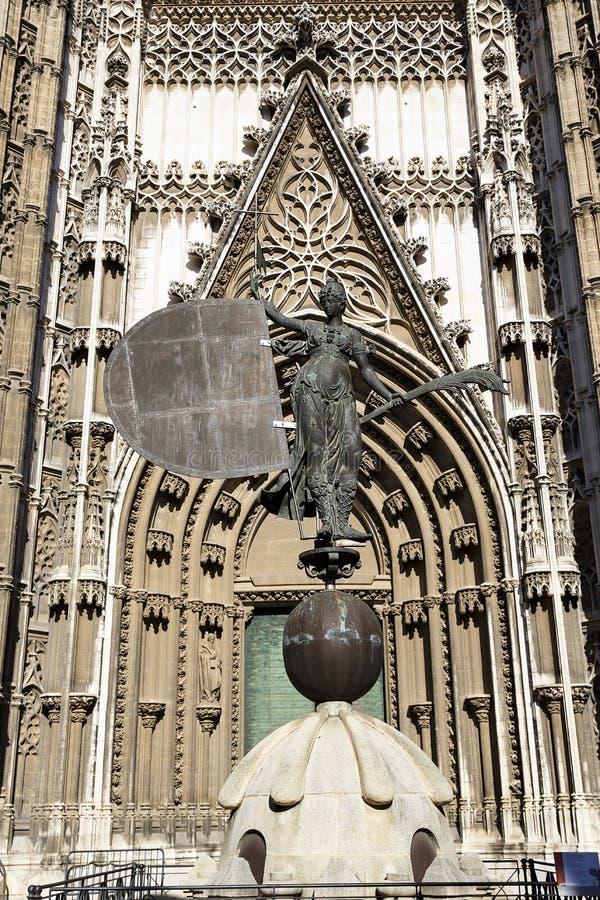 Catedral en Sevilla, España fotografía de archivo