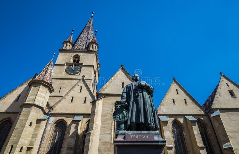 Catedral en Sibiu fotografía de archivo libre de regalías