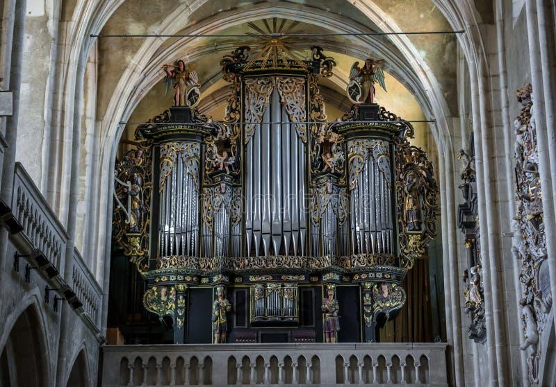 Catedral en Sibiu foto de archivo