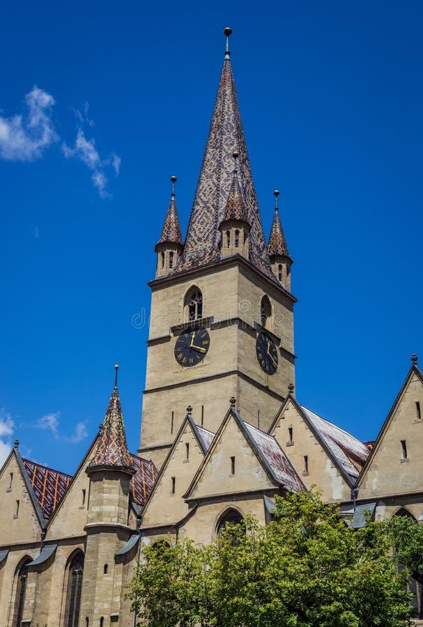 Catedral en Sibiu foto de archivo libre de regalías