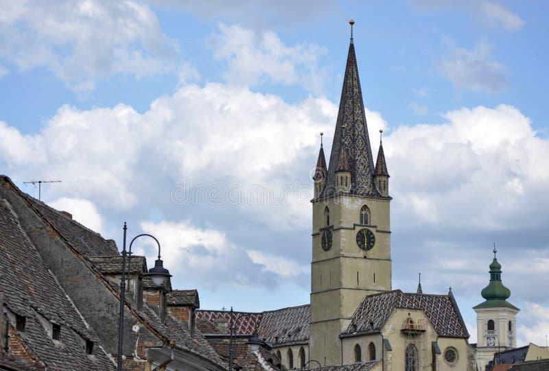 Catedral en Sibiu, Rumania fotografía de archivo libre de regalías