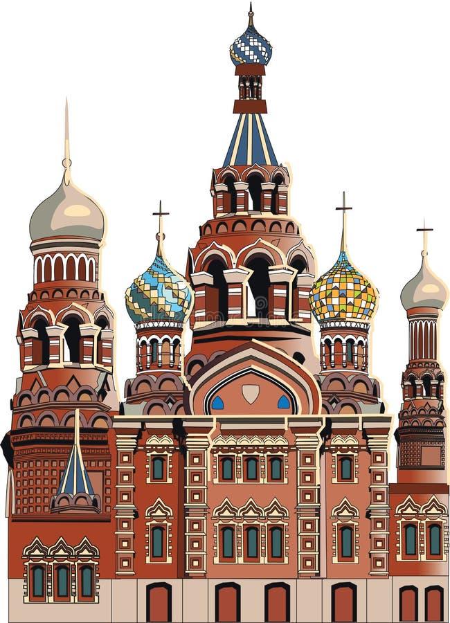 Catedral en St Petersburg ilustración del vector