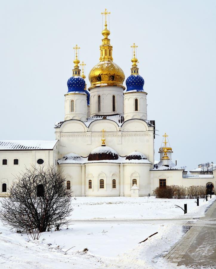 Catedral en Tobolsk, Rusia de la asunción foto de archivo